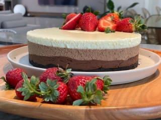 Imagem ilustrativa da receita TORTA MOUSSE 3 CHOCOLATES